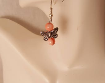 Butterfly beaded earrings  (ER056)