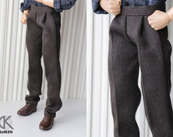 Handmade Ken doll clothes - dress pants