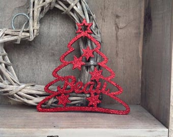 Personalised Christmas Bauble in Tree Shape by Duck Duck Goose