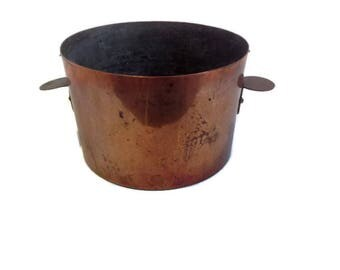 vintage french round copper mold
