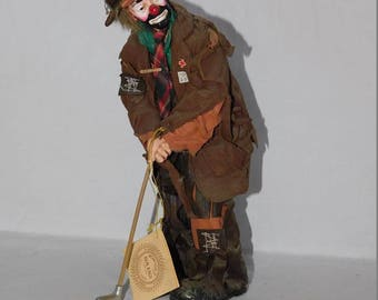 Flambro Emmett Kelly Real Rags Hobo Golf Clown Figure