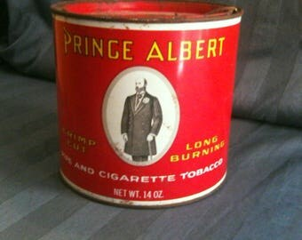 14 oz Prince Albert tobacco tin