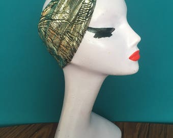 Beautiful Metallic Knot turban / headband