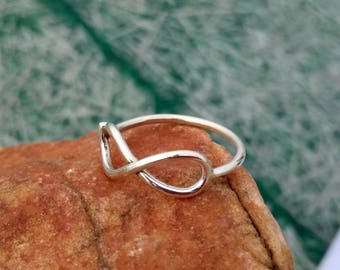 Sterling Silver Infinity Ring Ring - Sterling Silver friendship Ring - Gift Ring - Friendship ring