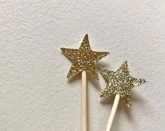 Mini Star Cupcake Topper