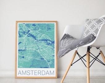 Amsterdam Map / Amsterdam Poster / Amsterdam Print / Amsterdam Map Print / Amsterdam City Map / Amsterdam Poster / Amsterdam Print /