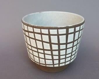 Flowerpot, flower pot, planter, german pottery / ceramic pot, 50s 60s, flower pot