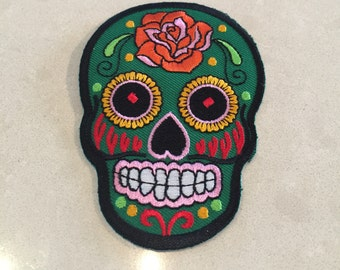 Day of the dead patch - emerald