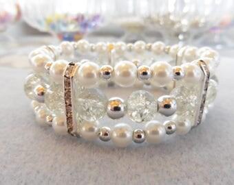 Pearl triple strand bracelet