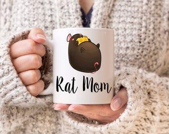 Rat Mom, Rat Mom Mug, Rat Owner, Rat Owner Gift, Rat Lover Gift, Rat Lover Mug, Rat Dad, I love Rats, Rat Lover, Gifts for Rat Owner