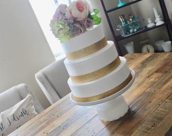 Milk Glass Cake Stand -  Wedding Cake Stand - Vintage Glass Cake Stand - Hobnail Milk Glass - Bridal Shower Centerpiece - Cake Plate