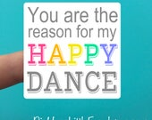 Happy Dance Sticker - Multiple Sizes Available - Sticker - Stickers for Small Businesses - Stickers for Makers - Stationery - Rainbow Colors