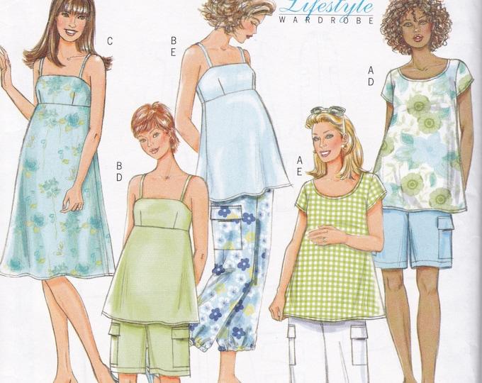 FREE US SHIP Butterick 4527 Separates  Maternity Top Pants Shorts Summer Dress Size 8 10 12 14 Bust 31.5 32.5 34 36  Uncut Sewing Pattern
