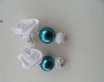 Flower Earrings, beads