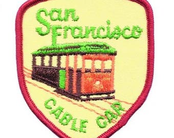 San Francisco Cable Car Patch - California (Iron on)