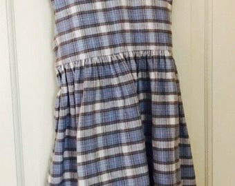 Vintage Girls Dress Size 6 Therese Brand Vintage Dress, Girls Jumper Dress, Girls Plaid Dress, Vintage Girl Clothes, Vintage Kids Clothes,