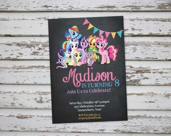 My Little Pony Invitation, My Little Pony Party, My Little Pony Birthday, MLP invitations, MLP Birthday Party, Pony Invitation DIY Printable