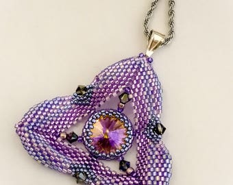 Triangle Beaded weave Pendant