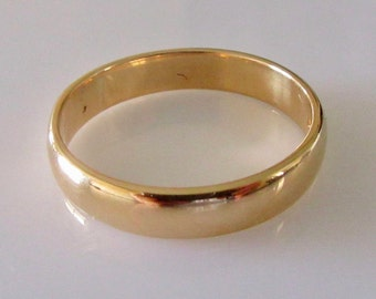 Mens 22ct Gold Wedding Ring Band Dated 1959