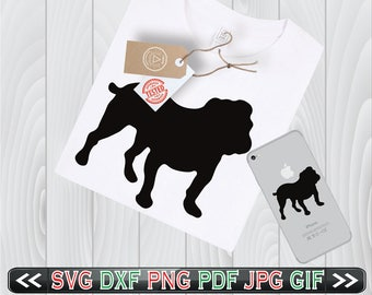 Bulldog SVG Files Animal Cricut DXF Clipart Designs - Bulldog Cricut Design - Bulldog Silhouette SVG - Instant Download
