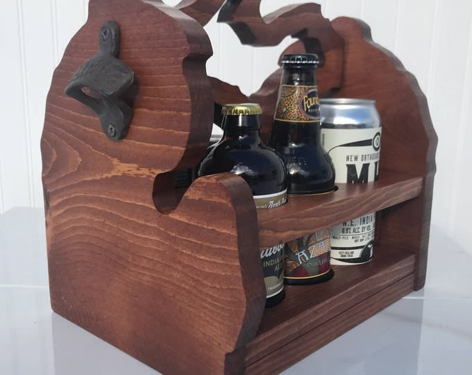 Michigan Beer Caddy (Wide bottles or cans)