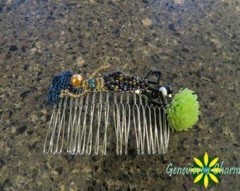 Dark Mermaid Handmade Beaded Decorative Hair Comb