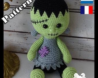 Crochet Pattern, pattern, tutorial, Amigurumi, Franky
