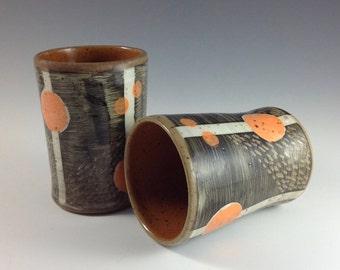 Ceramic Tumbler, Modern Wine/Water/Beer Cup, Ceramic Cups,Handleless Mug, Pottery Cup,Bathroom Cup, Tumbler C28