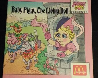 "Vintage 1988 Jim Henson's Muppet Babies Presents ""Baby Piggy, The Living Doll"" McDonald's Books"