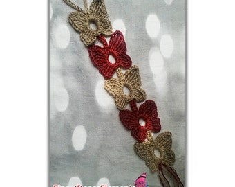 Natural JUTE Crochet Butterfly Chain Cat Toy