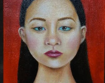Painting of a girl- original oil painting