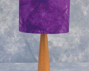 A deep rich purple marbled lampshade