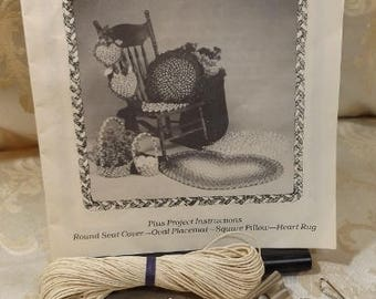 Braid Craft Fabric Braiding Tools & Instruction Pattern Book by Shirley Botsford/Distelfink Designs Rug Making, Seat Covers, Pillow +