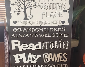 Personalized Grandparents Rules Signs