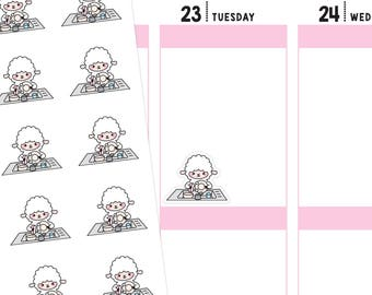 Washing Dishes Planner Stickers, Washing Dishes Stickers, Dishes Stickers, Dish Washing Stickers, Cleaning Planner Stickers, Lamb Stickers