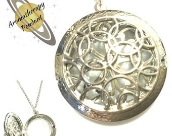 Aromatherapy Pendant, Silver Oil Diffuser Pendant, Silver Perfume Pendant, Perfume Diffuser Gift, Meditation Gift, Unique Pretty Gift