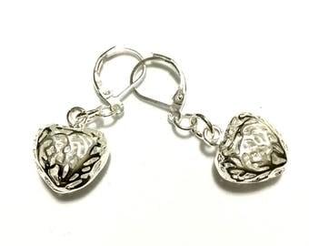 Valentine Filigree Earrings,Silver Open heart Earrings, Small Silver Heart Earrings, Trendy Stylish Gift, Gift for Her, Earrings Silver