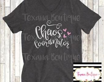 Chaos coordinator shirt, funny mom shirt, mom t shirt, women's vinyl shirt, women's graphic tees, chaos shirt, mama tshirts, women's tees