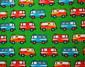 Naperonuttu alarm cars ambulance terry cloth / stretch frotte childrens fabric Finnish design Scandinavian