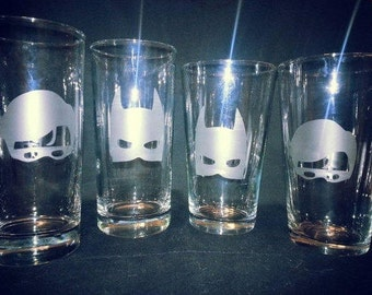 Batman Beer Glass Etsy