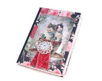 Mini Journal, Small Journal, Cats, Kittens, Writing Notebook, Pocket Journal, Password Notebook, Dream, Meditation, Travel, Milage Notebook