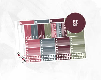 Apple Picking Fit Kit | Matte Glossy Planner Stickers