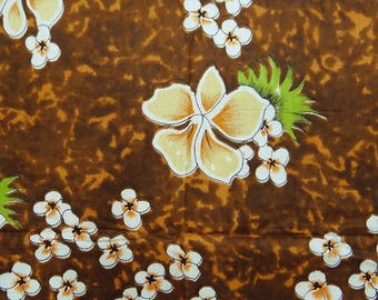 """Brown Fabric, Floral Print, Dress Fabric, Quilting Fabric, Sewing Decor, 42"""" Inch Cotton Fabric By The Yard ZBC4768"""
