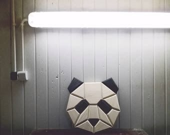 wooden panda wall decor