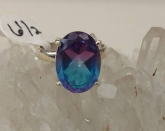 Multi-colored Tourmaline Ring Size 6 1/2