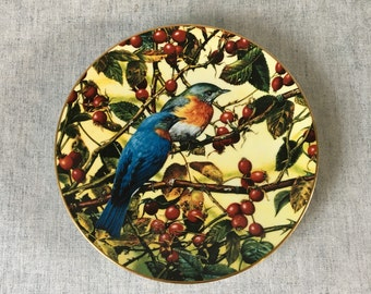 Vintage W L George Collectors Plate, The Beautiful Bluebird by Carl Brenders