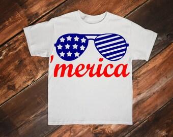 Fourth of july svg, 4th of july svg, July fourth svg, Merica svg, July svg, 'Merica svg, American sunglasses svg, Patriotic svg, America svg