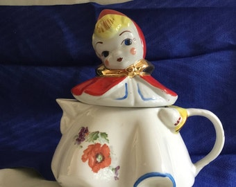 Vintage Little Red Riding Hood Teapot