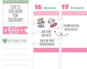 Munchkins -  Snowboarding! Time to Hit the Slopes Planner Stickers (M358)