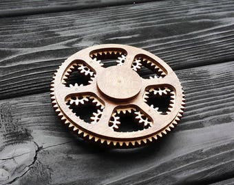 Planetary Gear Fidget Spinner Plans for Laser CNC Cutting Wooden Gift Plywood Wood Cut Model dxf cdr SVG Files for CNC Laser Cutting